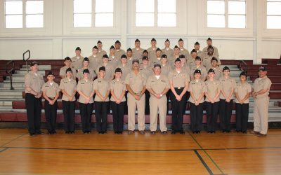 image 2017 FBHS NJROTC pictured in gym