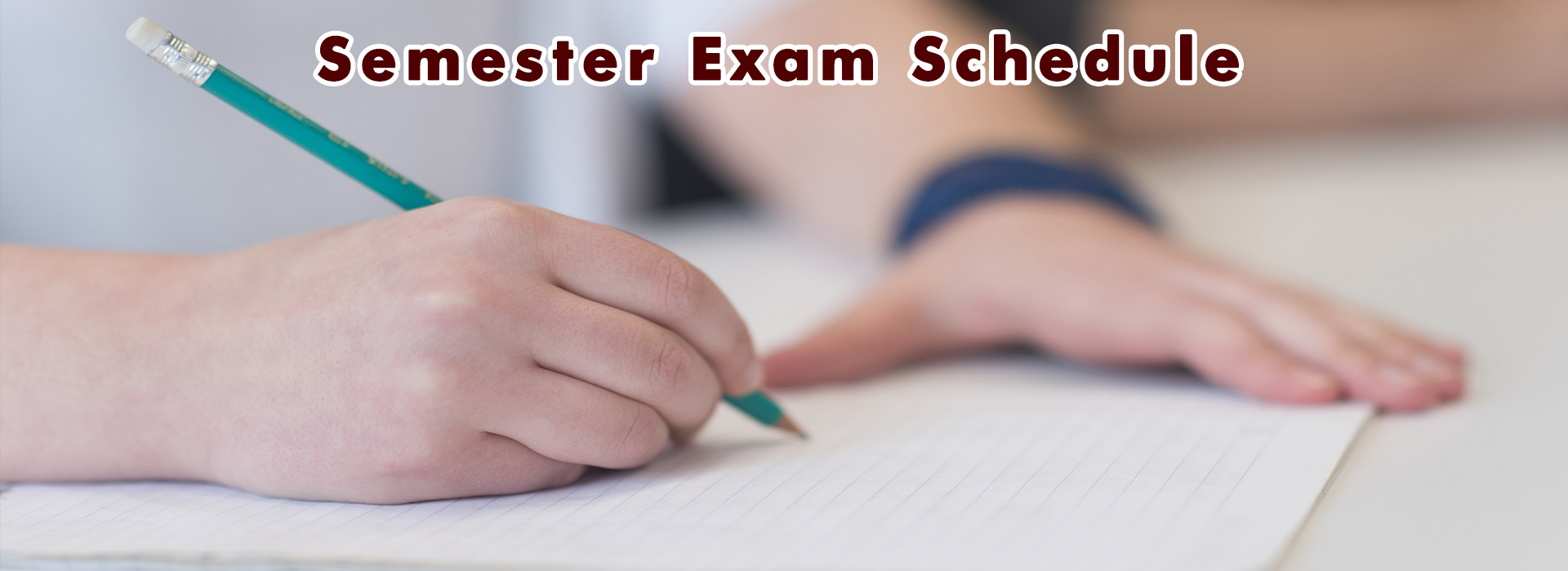 graphic spring semester exam schedule
