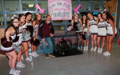 Miss Penny, FBHS Principal James Crenshaw and Cheerleaders