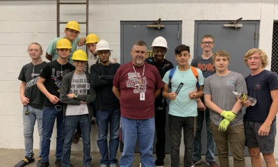Flour Bluff High School students in the Principals of Construction class